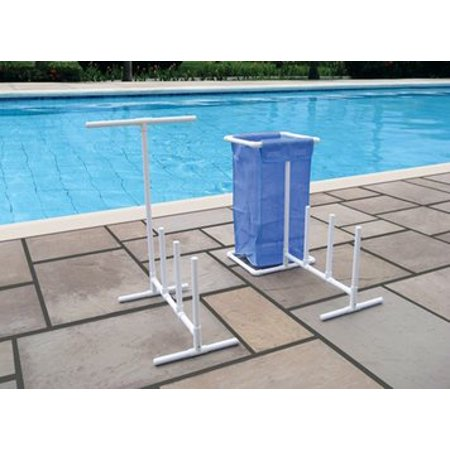 Raft, Float & Towel Caddy with Hamper for Swimming