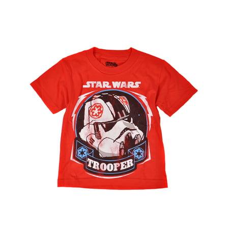 Star Wars Stormtrooper Kids Red Graphic T-Shirt