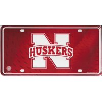 Nebraska Huskers Metal License Plate