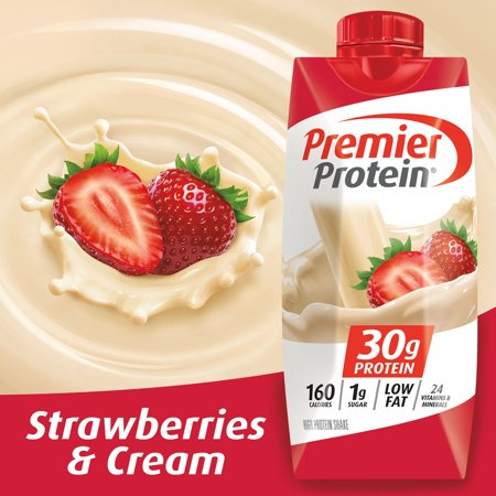 Premier Protein Shake, Strawberries & Cream, 11 fl oz, 4 Ct