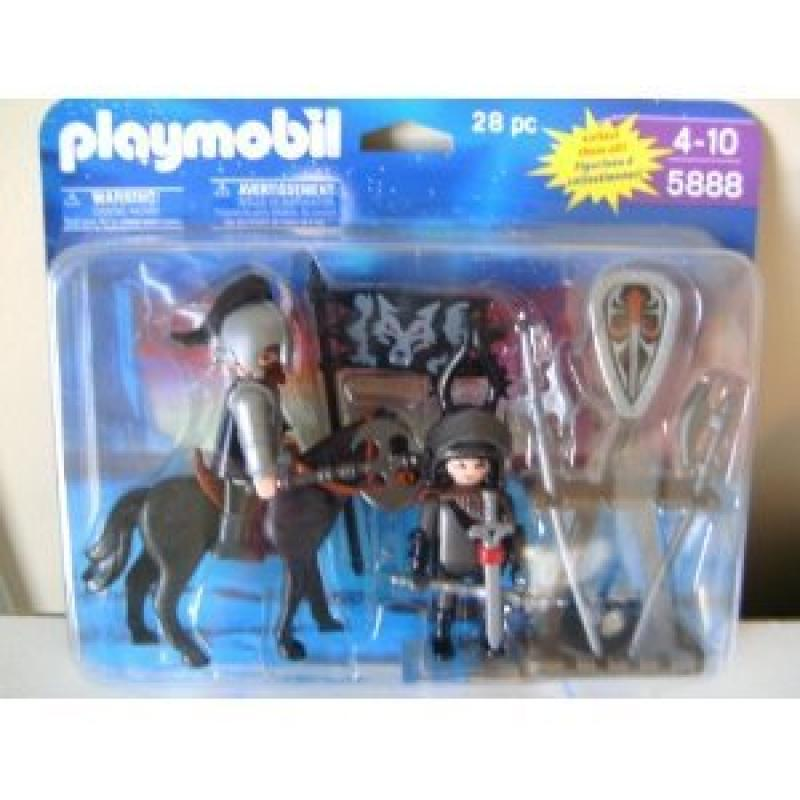 Playmobil Knights with Horse, Armor and Accessories 28 Piece Playset 5888