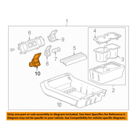 GM OEM Center Console-Auxiliary Radio Stereo Input Jack 13581217 ()
