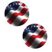 Tabletop AMERICAN FLAG CAR COASTER Absorbent St/2 Red White Blue Cc72934