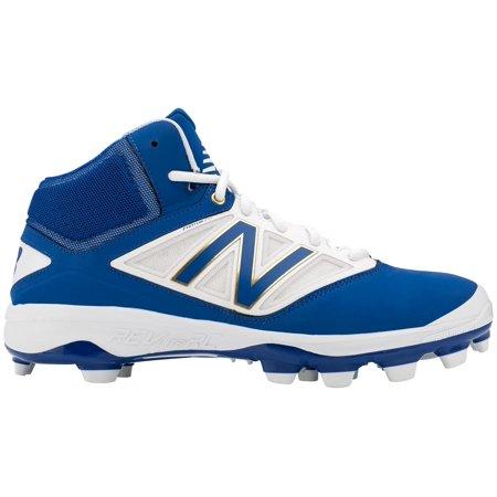 New Balance Men's 4040 V3 Mid TPU Baseball Cleats (Royal Blue/White,