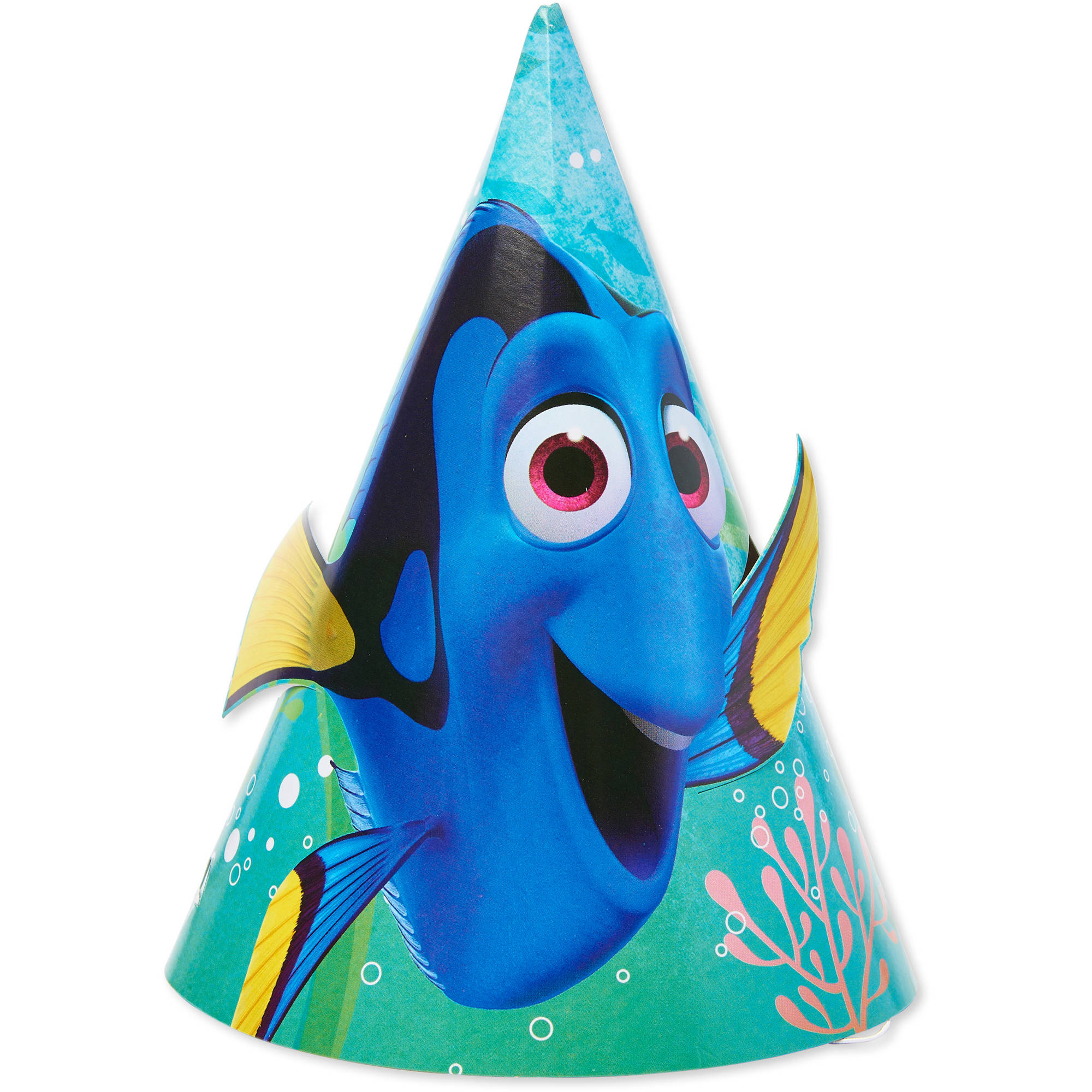 Finding Dory Paper Party Hats, 8ct