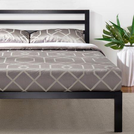 Mainstays Metal Platform Bed with Metal Headboard, Multiple Sizes