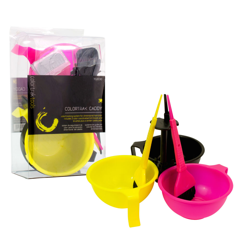 Colortrak Caddy Hair Coloring System Mixing Bowls And Applicator