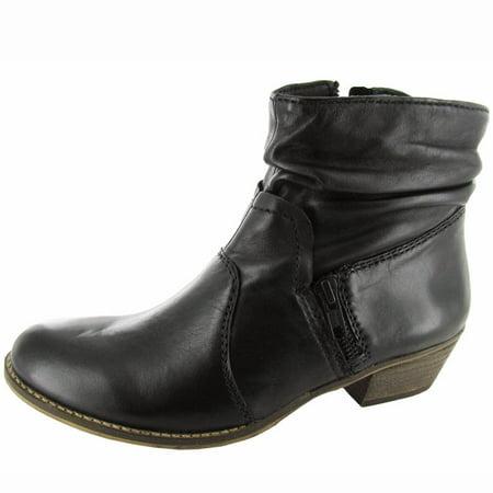 Steven Womens 'Neenaa' Bootie Shoe, Black Leather, US 6