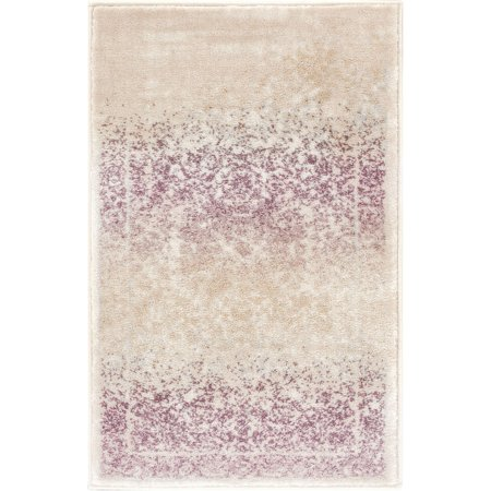 Well Woven Celine Lavender Persian Vintage Medallion Area Rug 2x3 (20