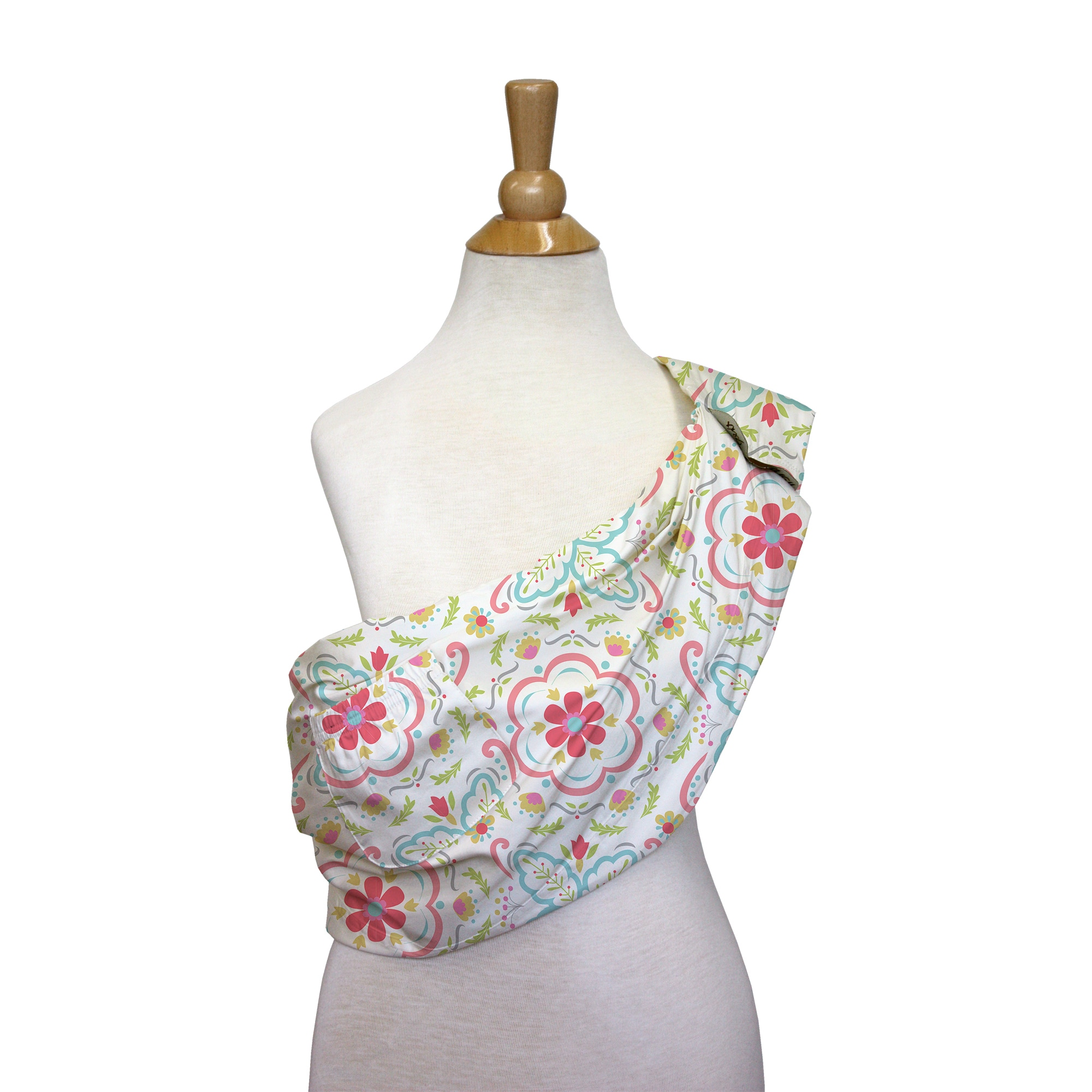 The Peanut Shell  Cotton Adjustable Sling in Mila Print