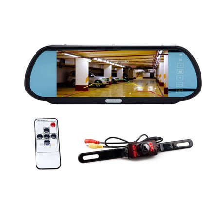 """7"""" TFT LCD Car Reverse Parking Rear View Backup Monitor + Waterproof Night Vision LED Car Rear View Camera Kit"""