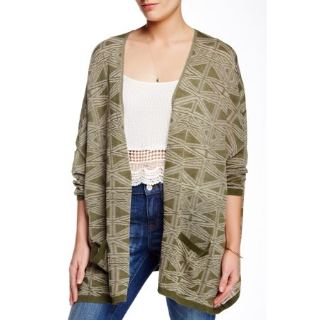 Nordstrom Rack New Green Womens Small Xs S Open Front Cardigan Sweater