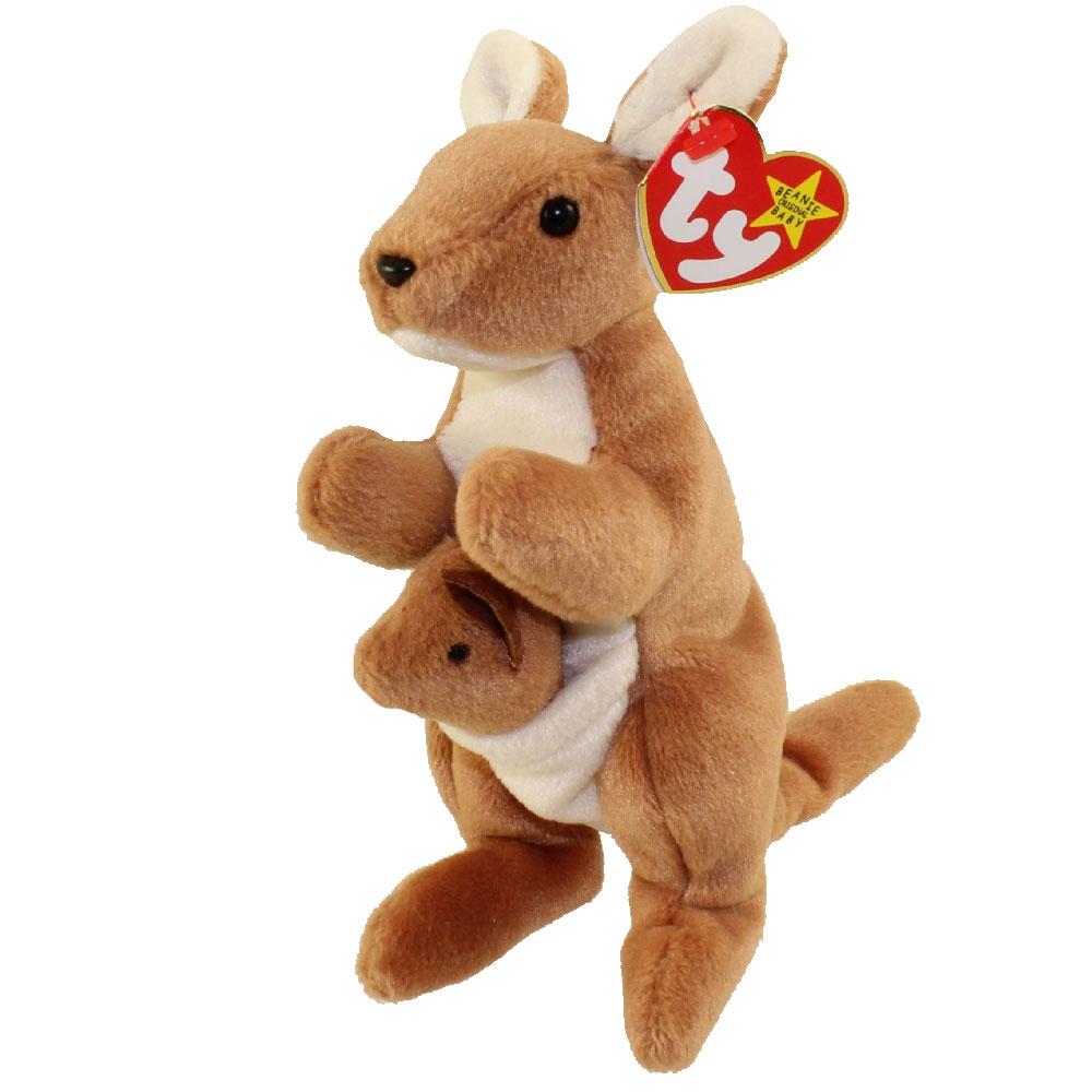 Ty Beanie Baby Pouch The Kangaroo 7 Inch Walmart Com