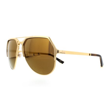 8fb08290cc3 DOLCE   GABBANA - DOLCE   GABBANA Sunglasses DG 2151 K440F9 Gold Plated 18K  59MM - Walmart.com