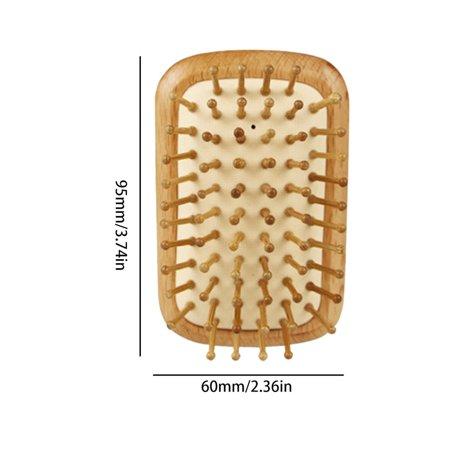 Airbag Massage Comb Portable Head Massage Anti-static Wood Comb Fluffy Comb - image 6 de 6