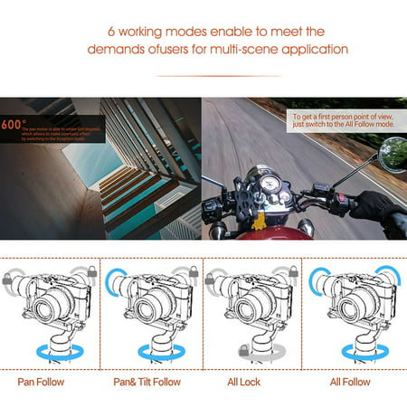 hohem iSteady Multi 3- Handheld Stabilizing Gimbal Stabilizer Max. Load 0.4kg/ 0.9Lbs for Sony RX100 Series for Canon G Series for Panosonic DMC-LX10 for GoPro Hero 7/6/5 SJCAM YI CAM for Huawei Samg - image 2 of 7