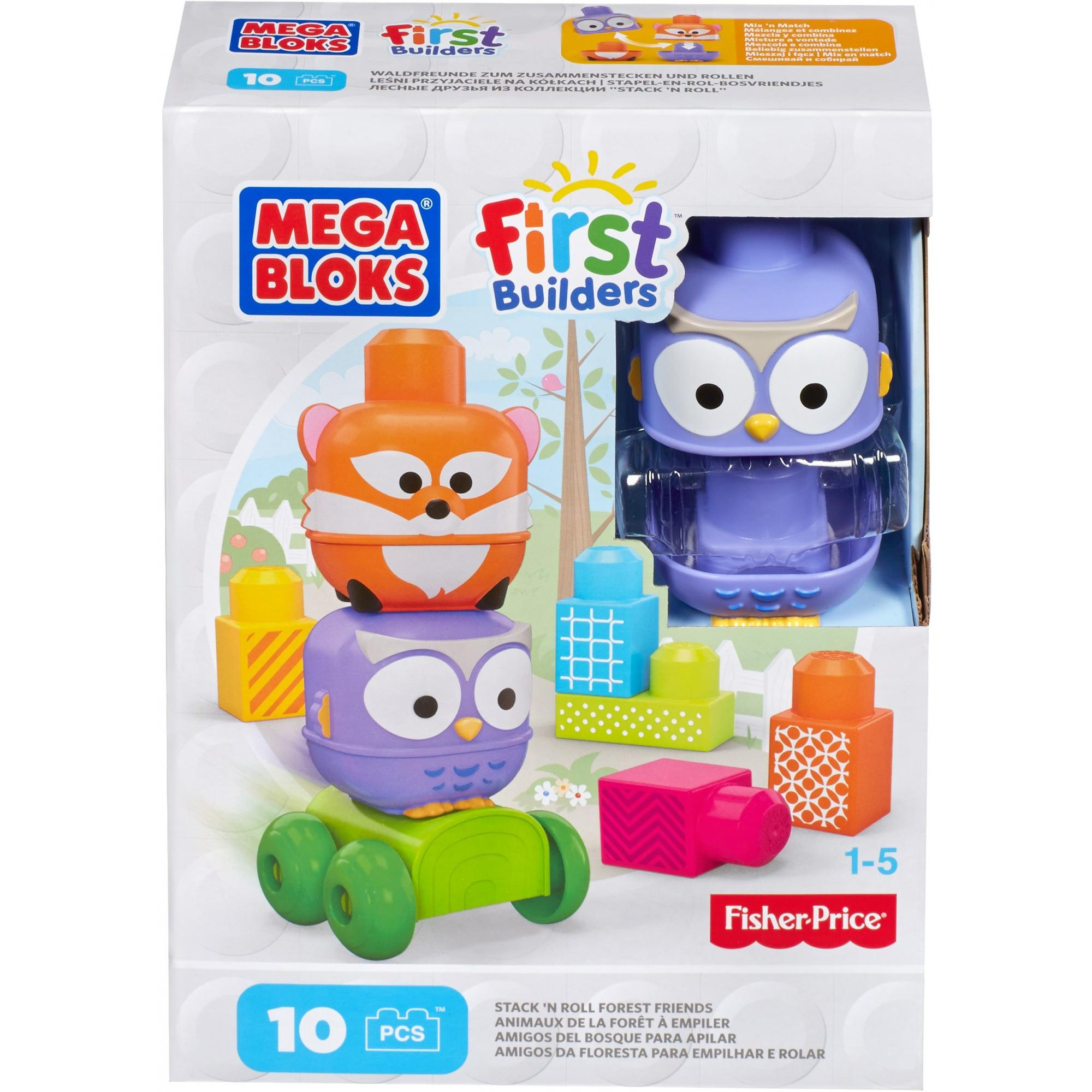 Mega Bloks First Builders Forest Friends Discoveries Stacker by Mega Bloks