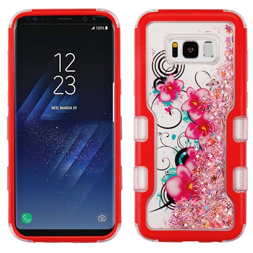 For Samsung Galaxy S8 Plus Natural Liquid Glitter Hybrid Protector Case Cover