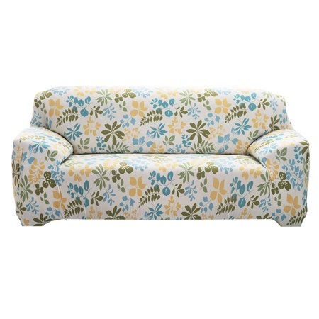 Unique Bargains Stretch 4 Seats Flower Pattern Sofa Cover Slipcovers Couch Protector Mult-color 92.5