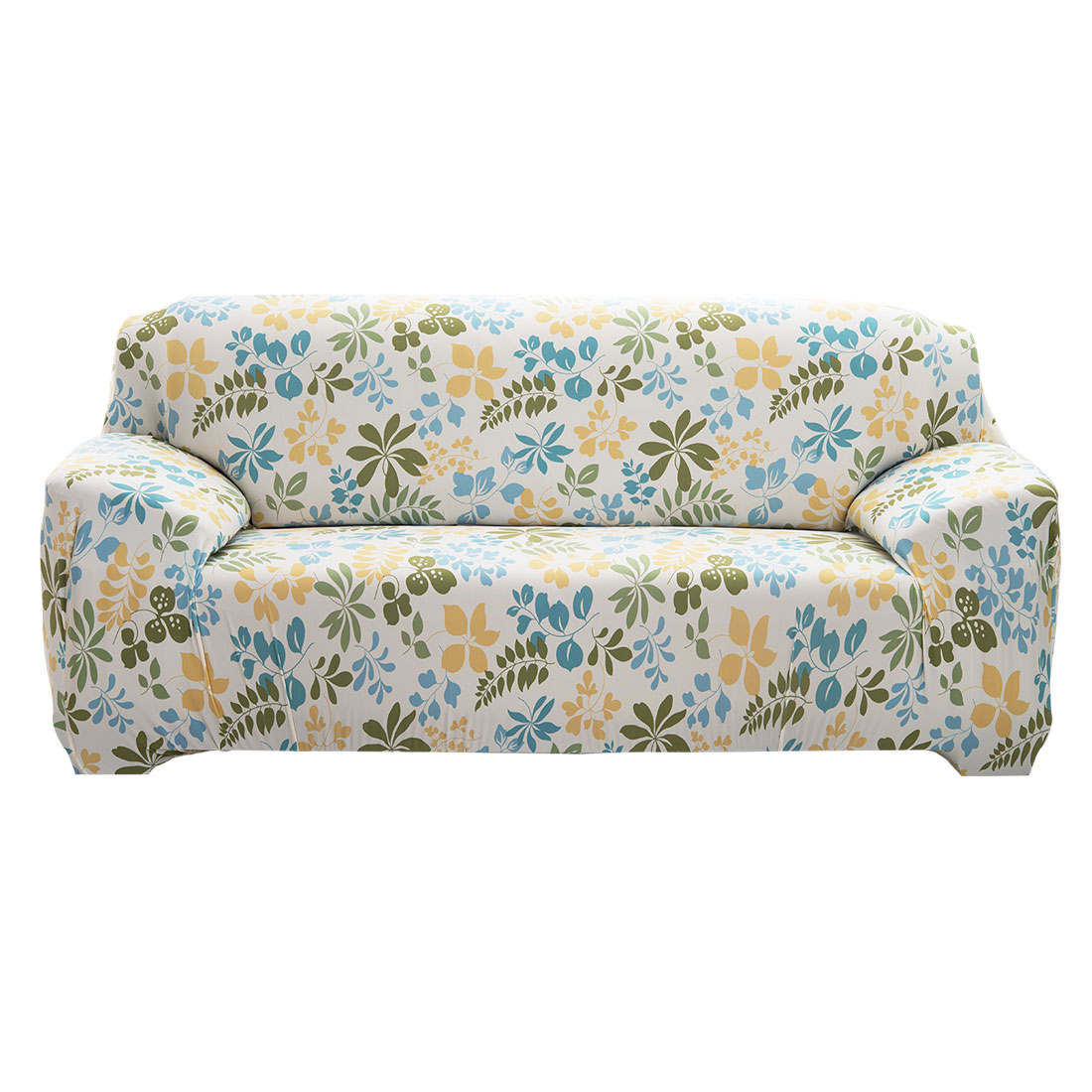 "Unique Bargains 92.5"" - 118""Mult-color Sofa Cover Slipcovers Protector Stretch 4 Seats Flower Pattern Hawaii Style"