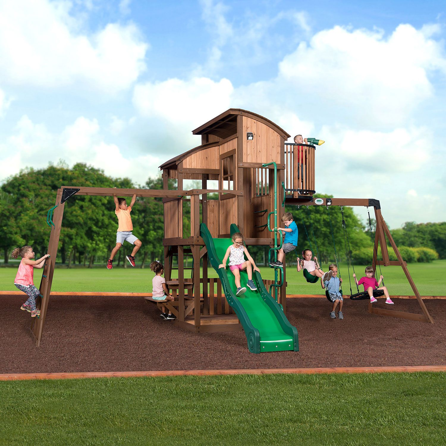 Backyard Discovery Skyfort Elite Swing Set Installation Included