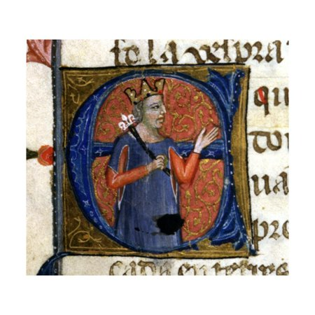 An illuminated initial, Chronicle of James I or