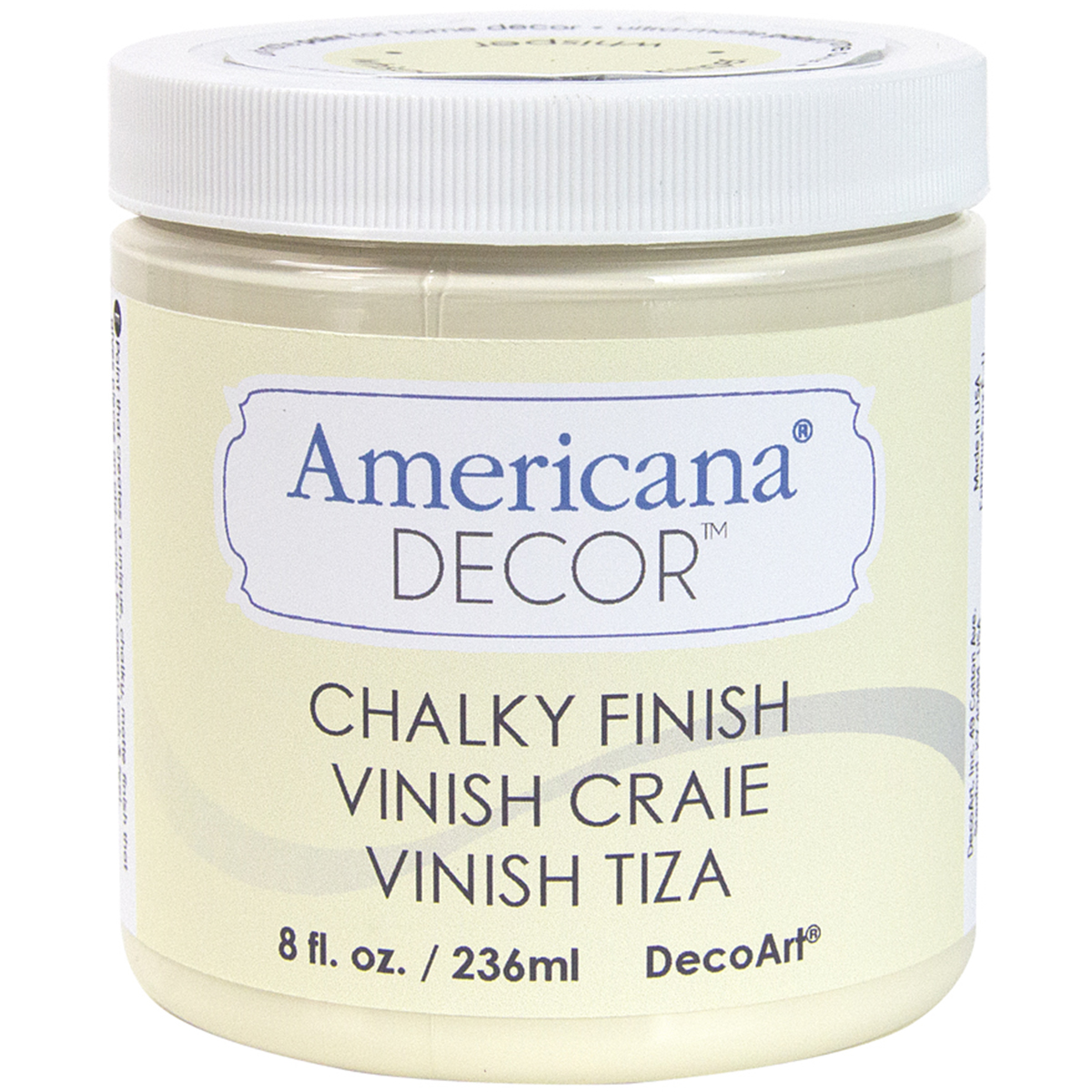 Deco Art Americana Chalky Finish Paint, 8-Ounce, Whisper Multi-Colored