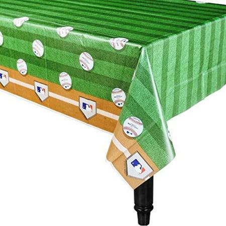 Rawlings Baseball MLB Plastic Table Cover, 54 x 102