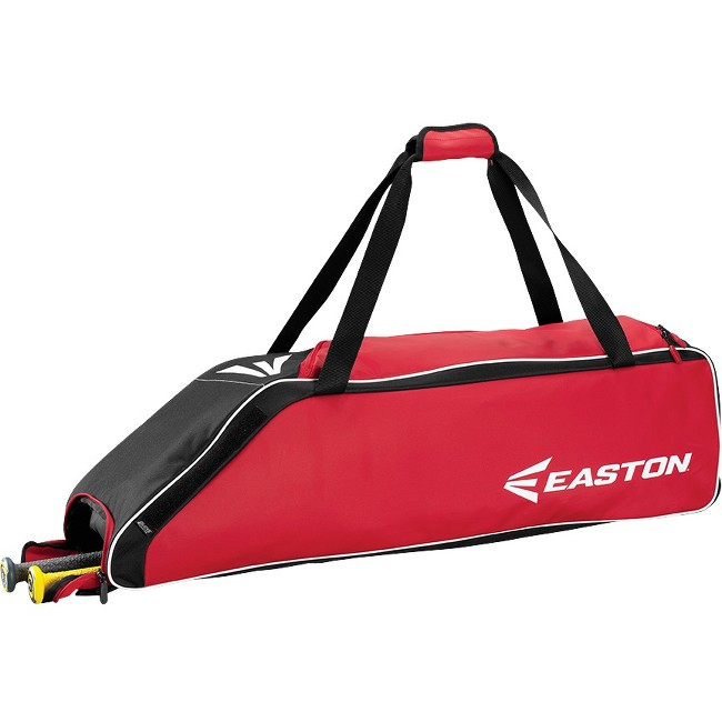 "Easton E310W Carrying Case (Roller) for Gear, Bat, Baseball - Red - Carrying Strap - 9"" Height x 9"" Width x 36"" Depth"