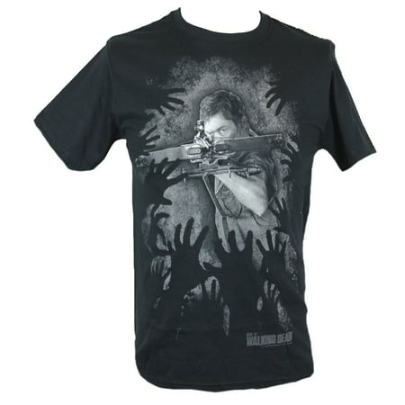 The Walking Dead Mens T-Shirt -  Daryl Dixon Crossbows the Zombies Away