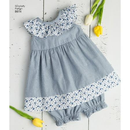 Simplicity Infants' Size XXS-L Dress, Romper & Panties Pattern, 1 Each - Greek Dress Pattern