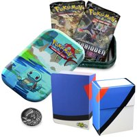 Totem World Squirtle Kanto Friends Mini Tin with Great Ball Mini Binder & Deck Box Bundle - Perfect for Collectors Pokemon Cards