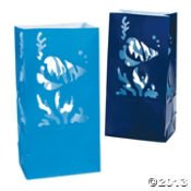Under The Sea Luminary Bags/Party Supplies/Wedding/Paper Supplies, Light up the path to the bottom of the sea! By Fun Express - Wedding Luminaries