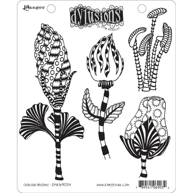 """Dyan Reaveley/'s Dylusions Cling Stamp Collections 8.5/""""X7/""""-People...Not A Fan"""