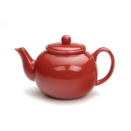 Cherry Red 6 cup Stoneware Chai Teapot By RSVP Ship from US
