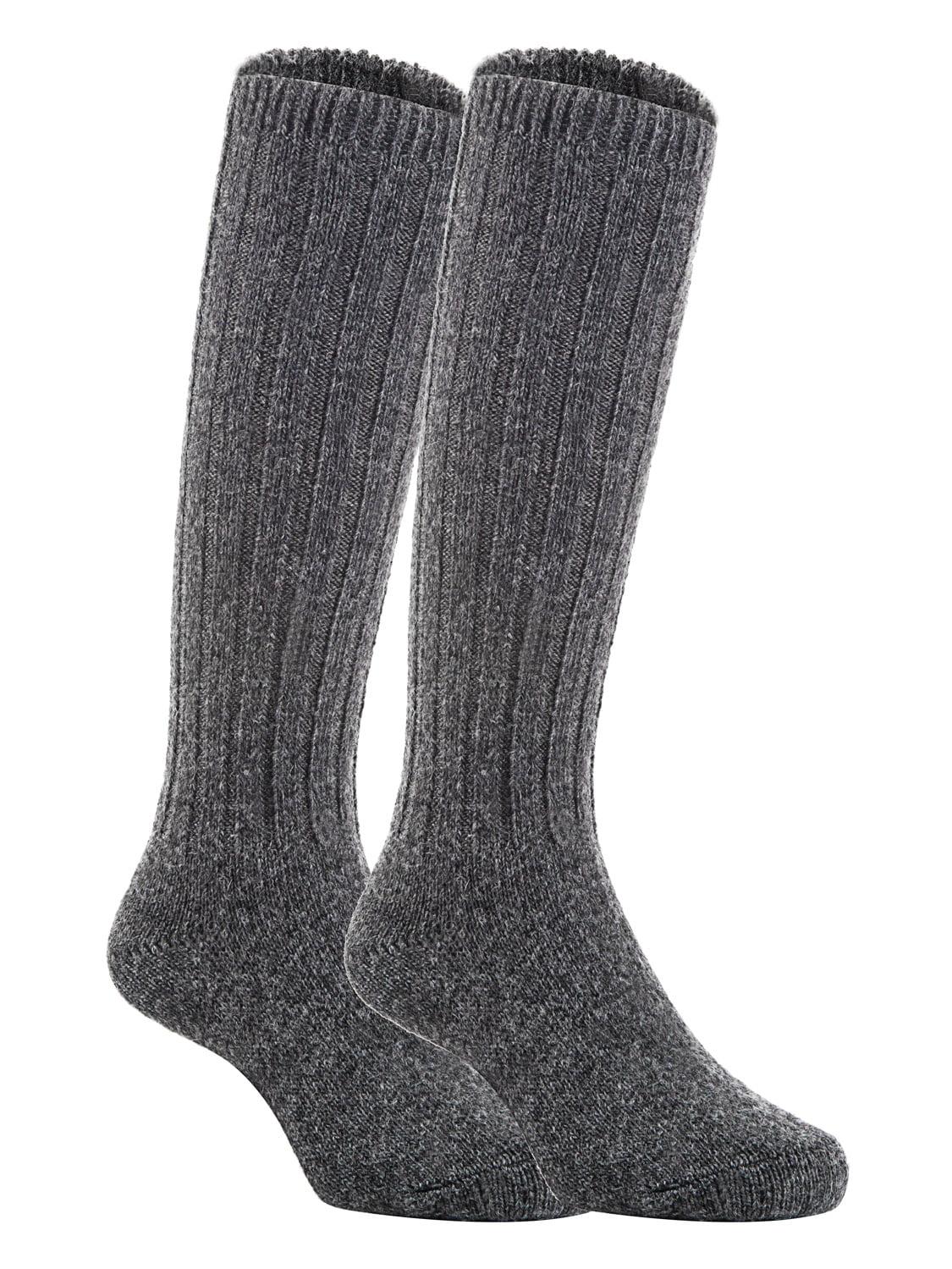 Lian LifeStyle Unisex Baby Children 3 Pairs Knee High Wool Blend Boot Socks Size 0-2Y  (Dark Gray)