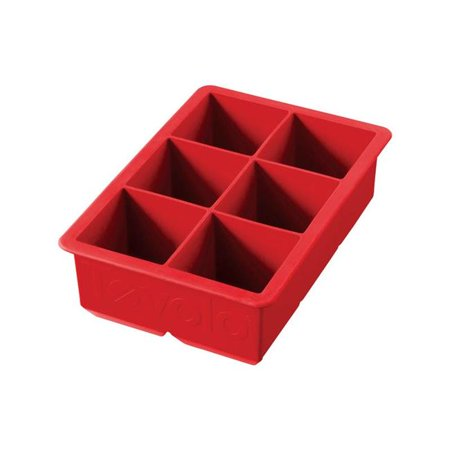 King Cube Ice Tray Silicone Candy  Apple Red - pack of 6 - image 1 de 1