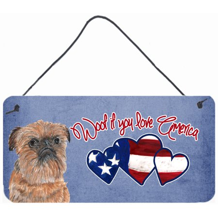 Woof if you love America Brussels Griffon Wall or Door Hanging Prints