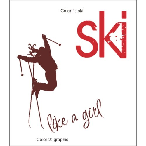 Alphabet Garden Designs Ski Like a Girl Wall Decal