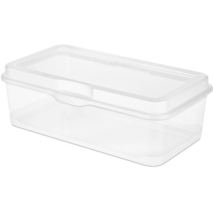 Sterilite Fliptop Box Clear Case Of 12 Walmart Com