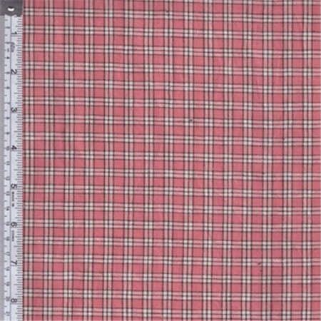 textile creations rw0097 rustic woven fabric small plaid rose mocha and white 15 yd. Black Bedroom Furniture Sets. Home Design Ideas