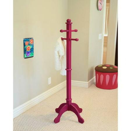 Home Craft Kids' Multi-Use Coat Rack, Purple