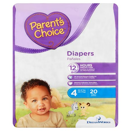 Parent's Choice Diapers, Size 4, 20 Diapers–Walmart-Cash Back