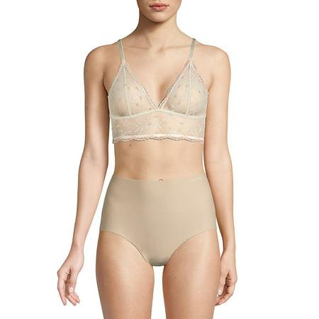 26d8f487749 Calvin Klein - Pom-Pom Lace Unlined Triangle Bralette - Walmart.com