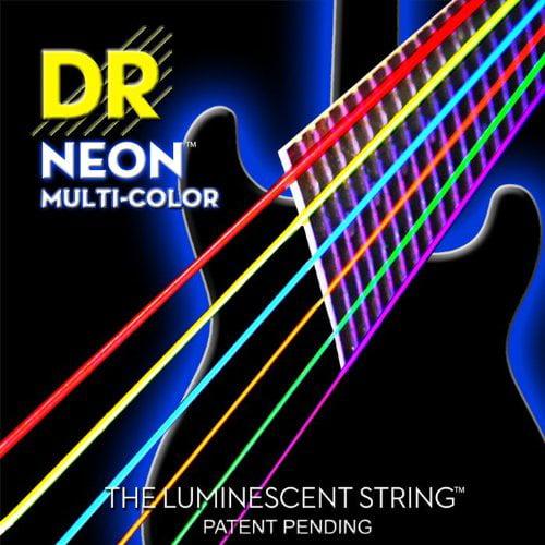 Dr Neon NMCE10 Electric Strings Medium, Mulit-Color