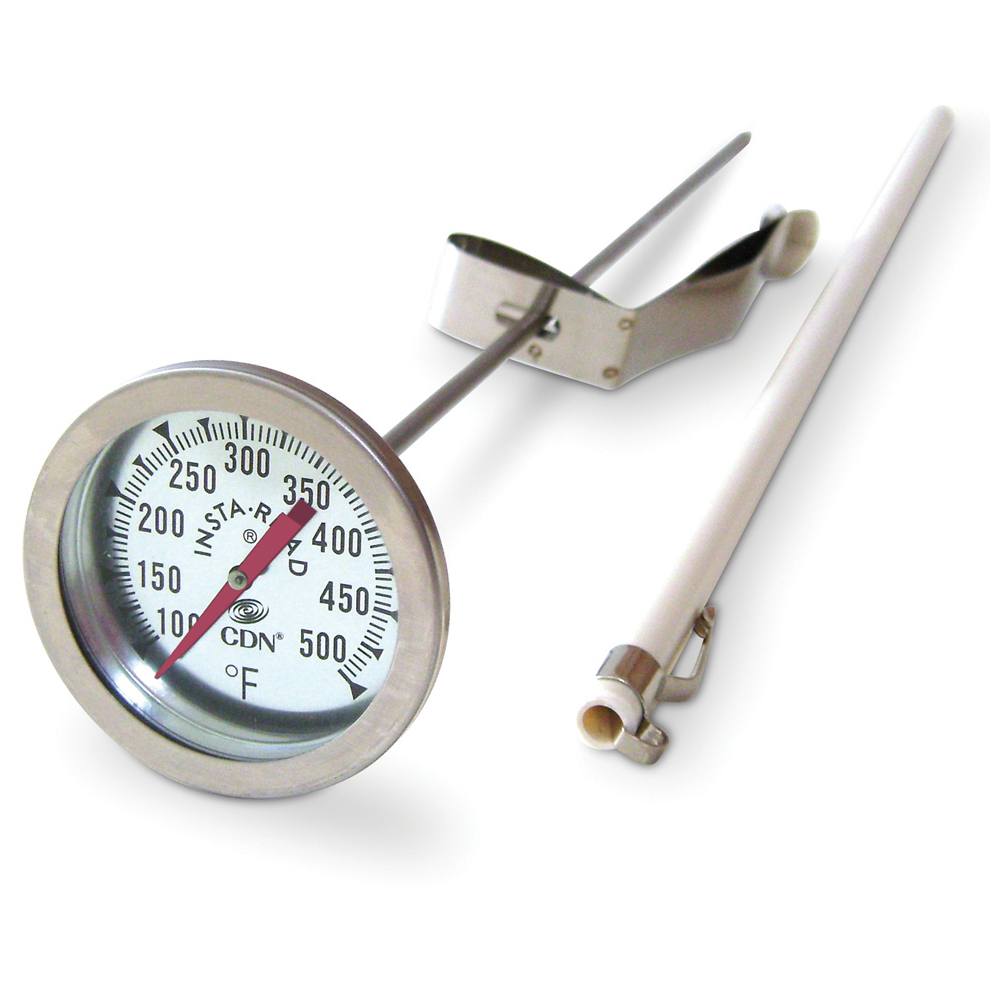 CDN Long Stem Fry Thermometer With Clip