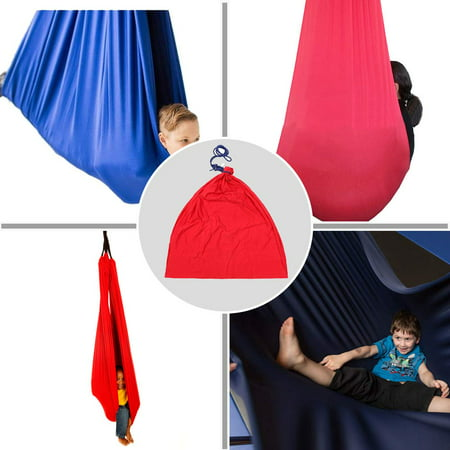Indoor Therapy Swing for Kids and Teens with More Special Needs, Cuddle Hammock Ideal for Autism, ADHD, Aspergers and Sensory Integration Snuggle Swing Hammock - Up to 88LBS (Red) ()