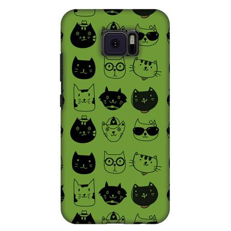 Asus ZenFone V V520KL Case - Cat Party, Hard Plastic Back Cover. Slim Profile Cute Printed Designer Snap on Case with Screen Cleaning Kit (Slim Cat)