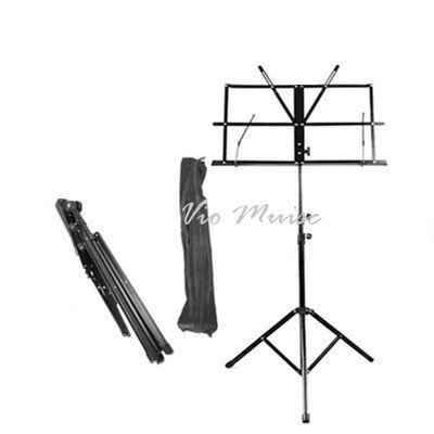 Two Section Folding Music Stand with Carrying Bag, Vio Music Fold out extensions hold... by