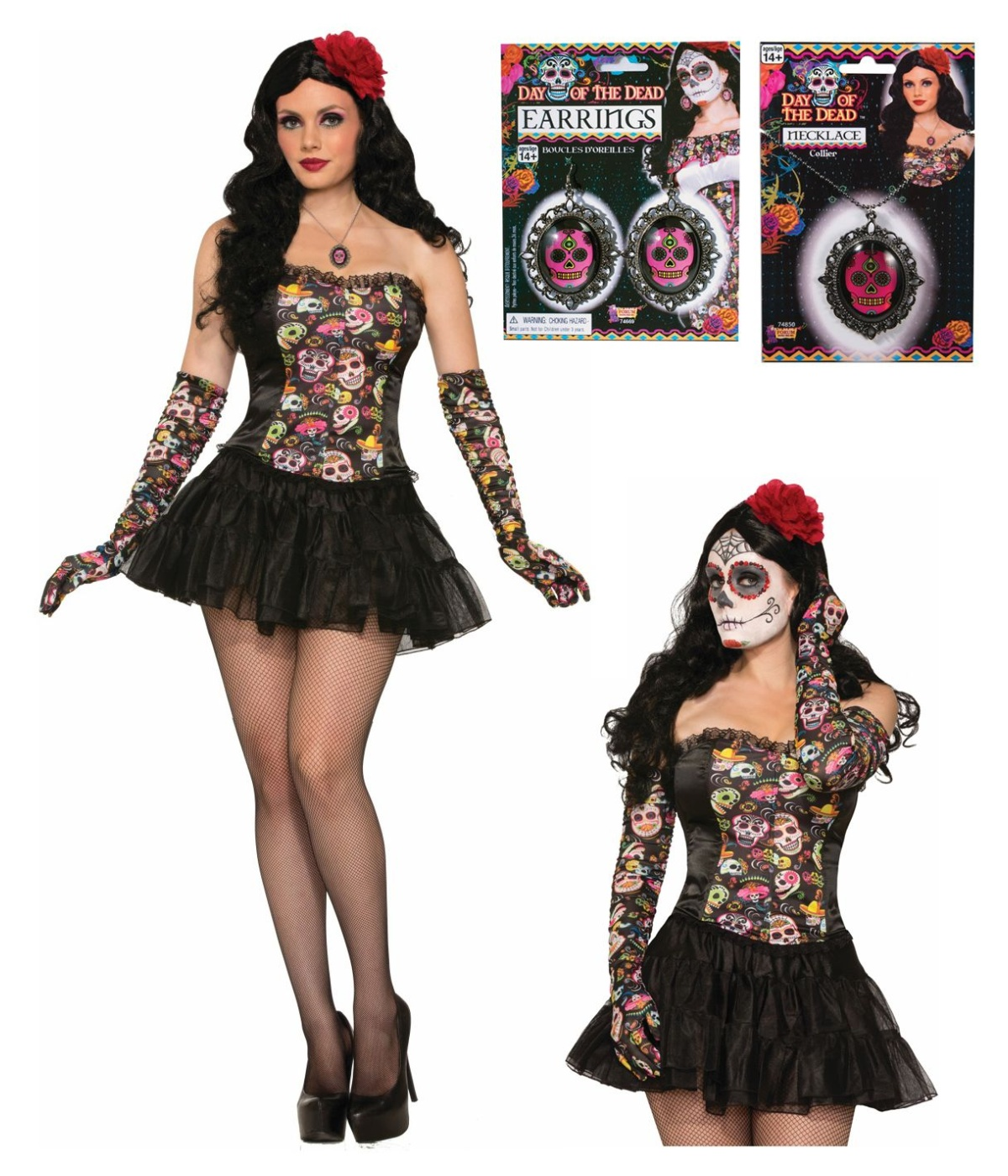 day of the dead womens costume accessory kit walmartcom